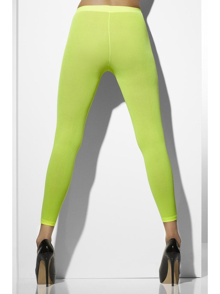 Opaque Neon Green Footless Tights