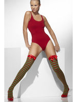 Opaque Hold-Ups, Red & Green Striped