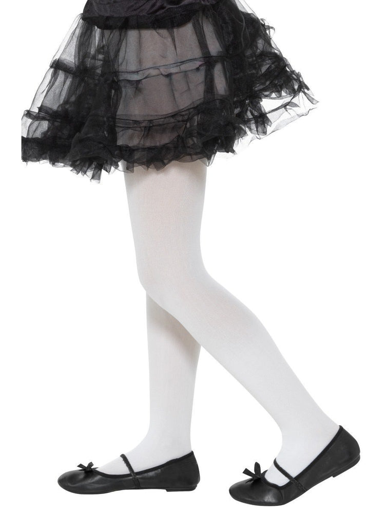 Opaque Tights, White, Age 6-1249794