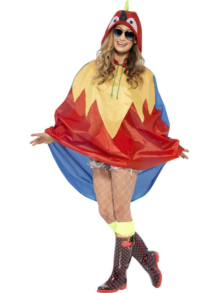 Smiffys Parrot Party Poncho - 27611