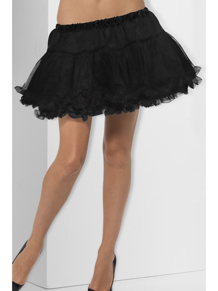 Smiffys Petticoat, Black with Satin Band - 44055