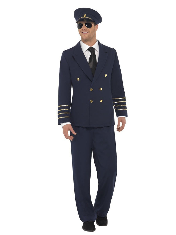 Pilot Costume With Hat (L)