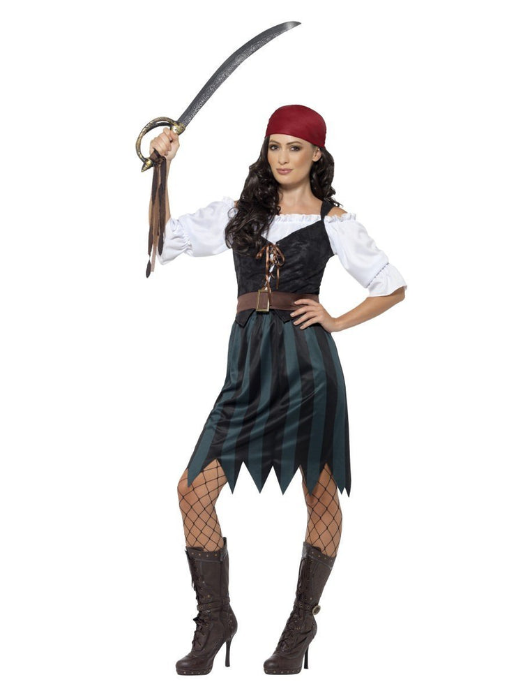 Smiffys Pirate Deckhand Costume, with Skirt - 45491