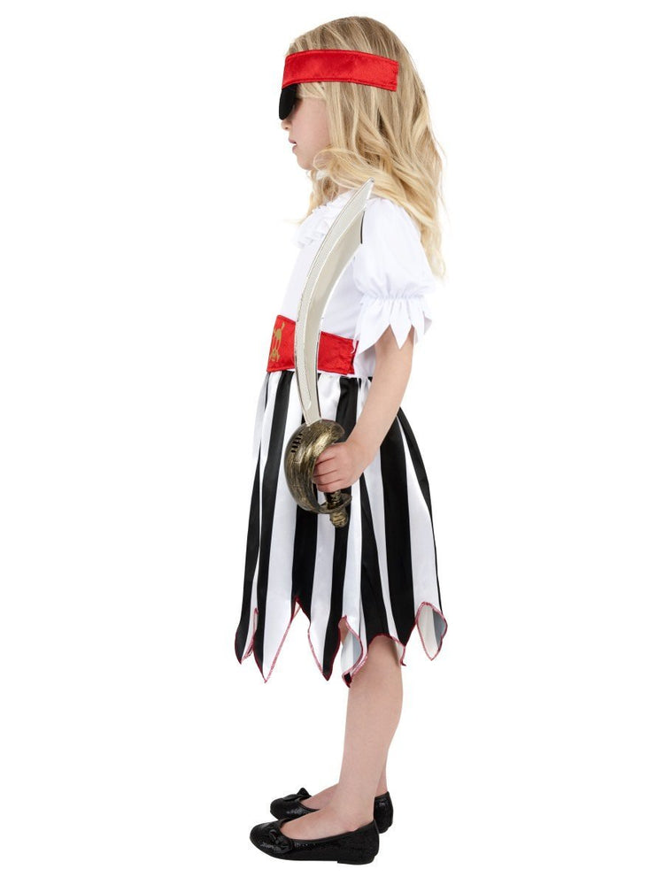 Pirate Girl Costume, Black & White38776