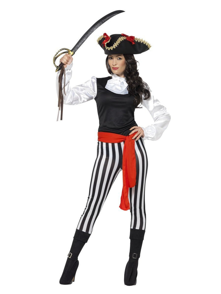 Smiffys Pirate Lady Costume, with Top - 25561
