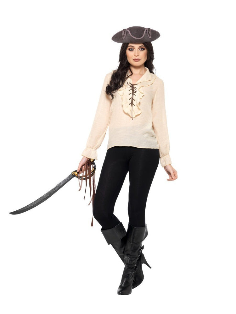Pirate Shirt, Ivory, with Lace Up Front40383