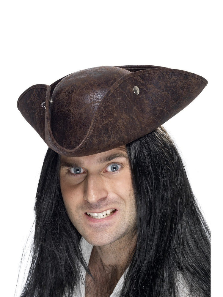 Pirate Tricorn Hat Brown