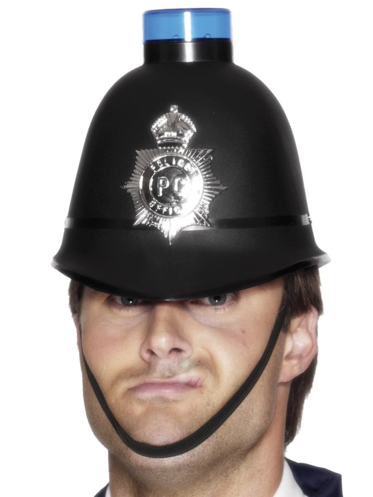 Police Helmet with blue light