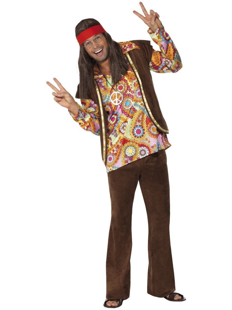 Psychedelic 1960s Hippy Costume34064