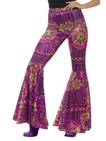 Smiffys Psychedelic Flared Trousers, Ladies - 45166