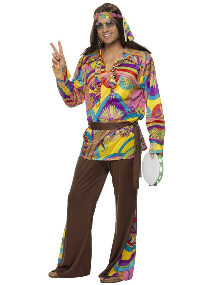 Psychedelic Hippie Man Costume - M