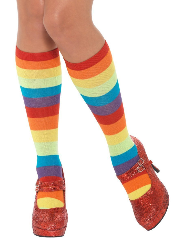 Rainbow Clown Socks, Unisex