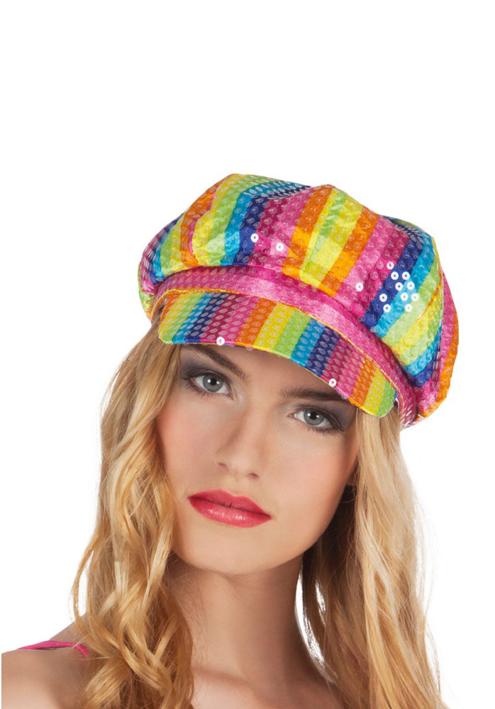 Rainbow Lollipop Cap