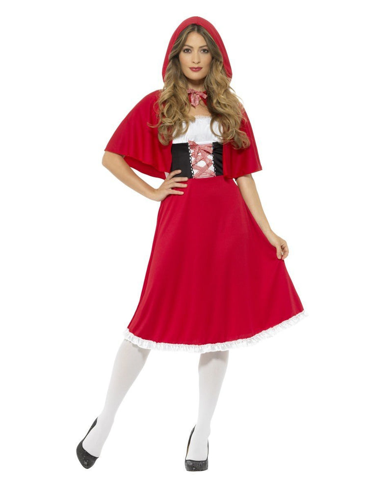 Smiffys Red Riding Hood Costume, Long Dress - 44686