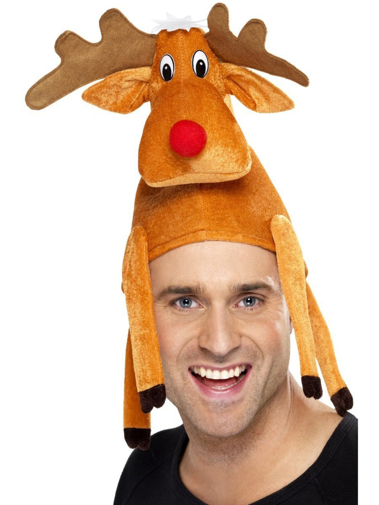 Orange Reindeer Hat