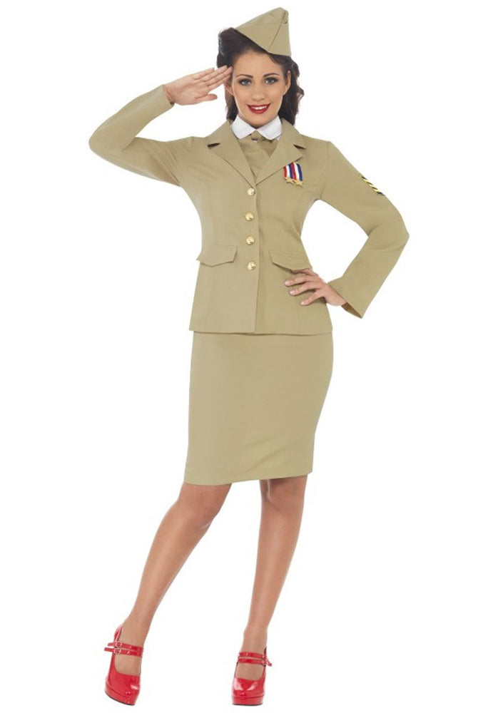 Retro Officer Woman Costume, Officer Ladies Costume