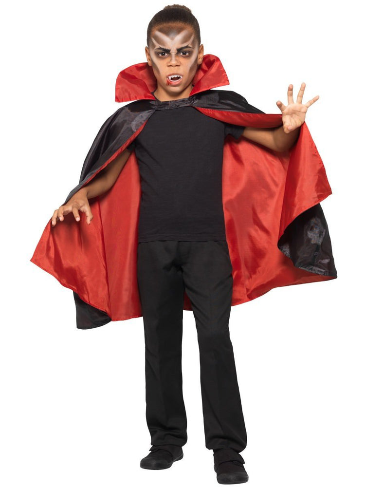 Smiffys Reversible Vampire Cape, Kids - 49843