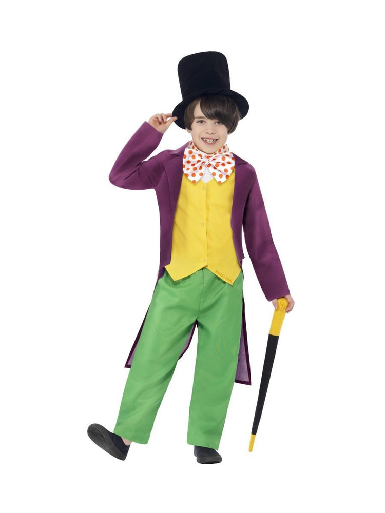 Willy Wonka Roald Dahl Costume, Child