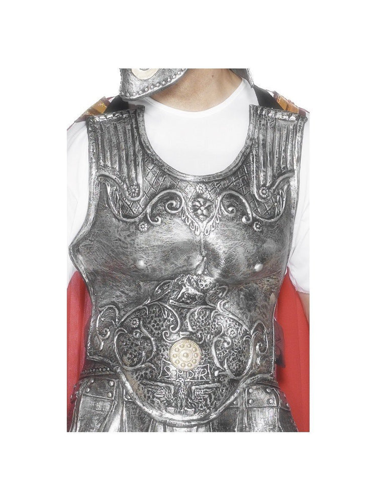 Smiffys Roman Armour Breastplate, Silver - 25324
