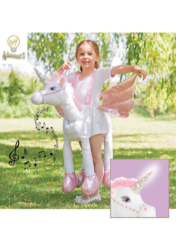 Ride on Unicorn Child Costume Light and Sound