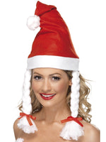 White Plaits Santa Hat