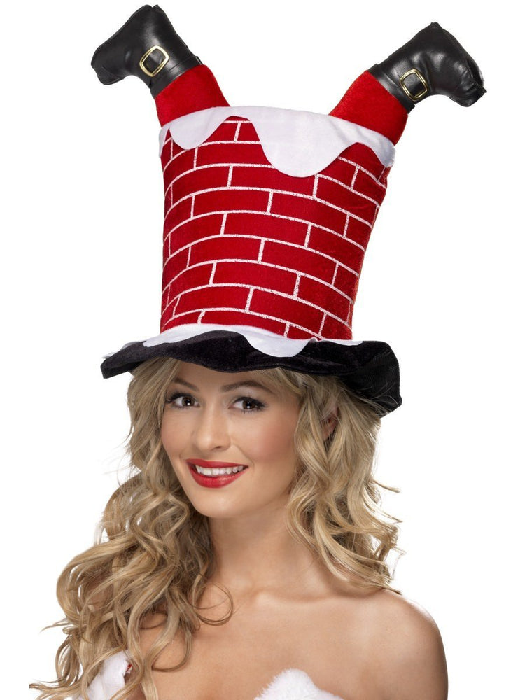 Santa Stuck in Chimney Hat38335