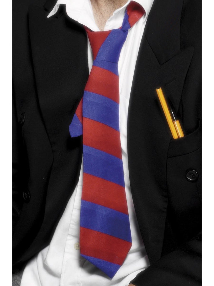 School Tie, Red & Blue