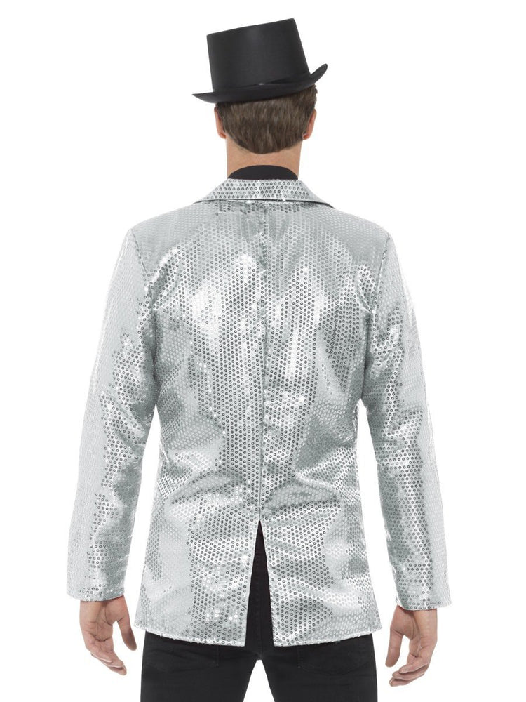Sequin Jacket, Mens, Silver21139
