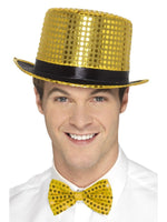 Sequin Top Hat, Gold