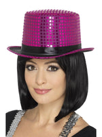 Sequin Top Hat, Pink