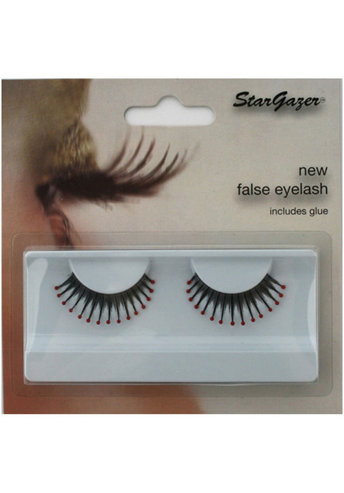 Eyelashes Black With Red Tip
