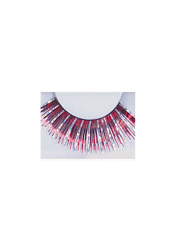 Eyelashes Glitter Red/Silver /26