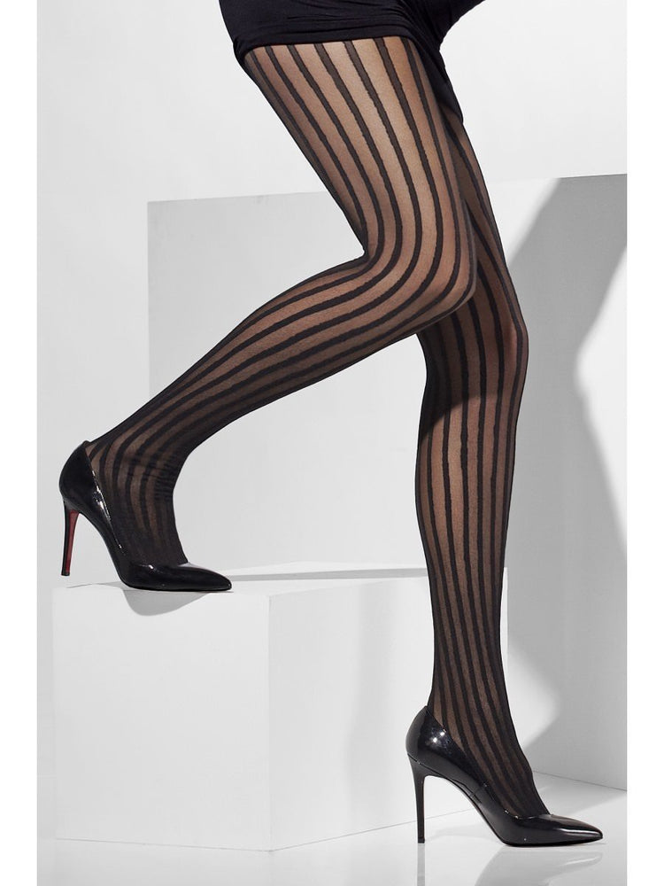 Sheer Tights, Black Stripes