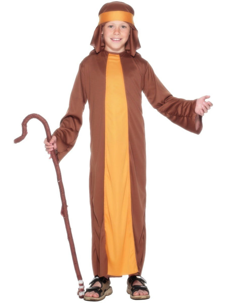 Smiffys Shepherd Costume, Child, Brown - 23838
