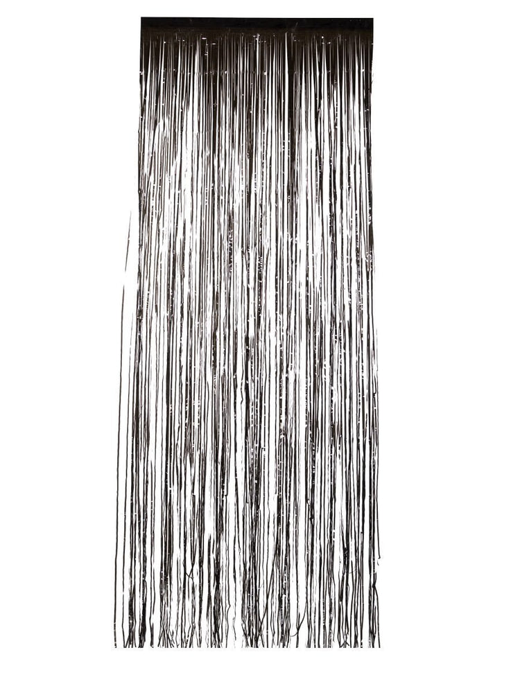 Smiffys Shimmer Curtain, Metallic Black - 46941