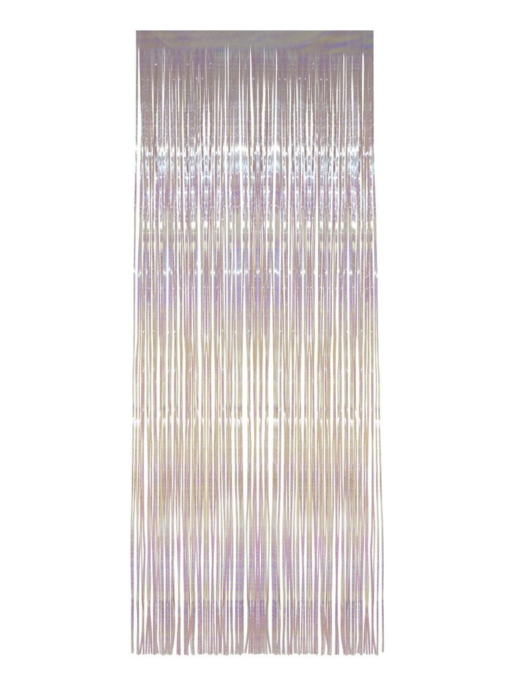 Shimmer Curtain White Iridescent