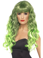 Siren Wig, Green & Black