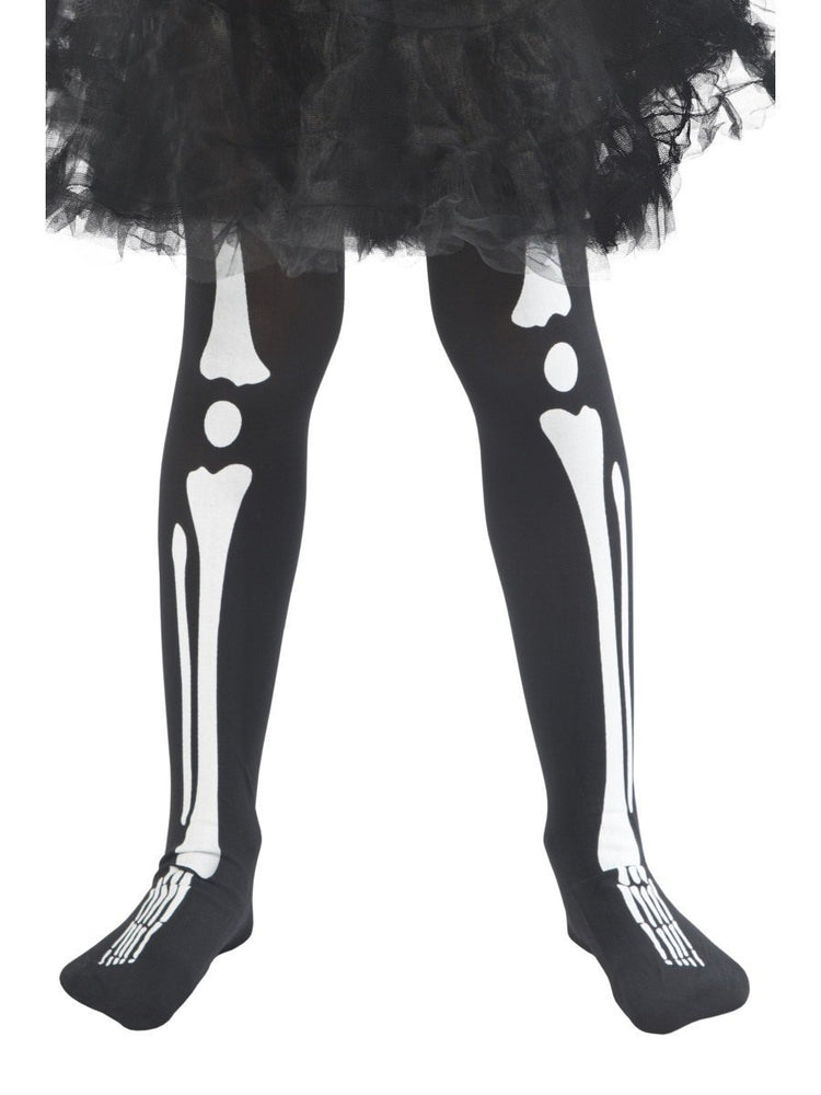 Smiffys Skeleton Tights, Child - 48158