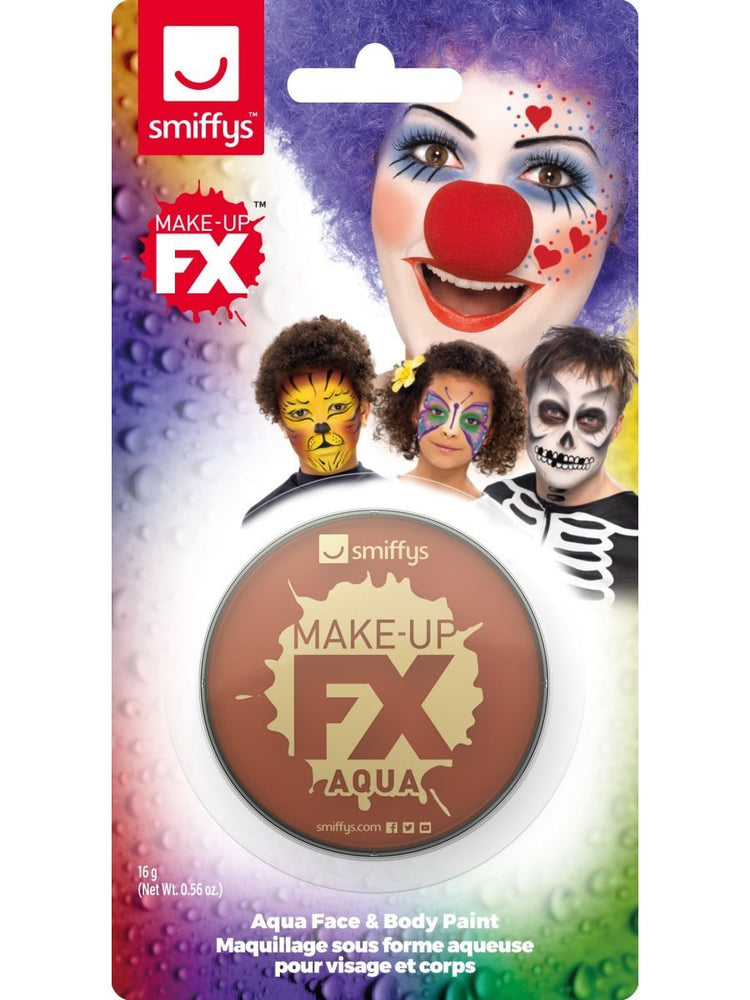 Smiffys Smiffys Make-Up FX, on Display Card, Light Brown - 47029