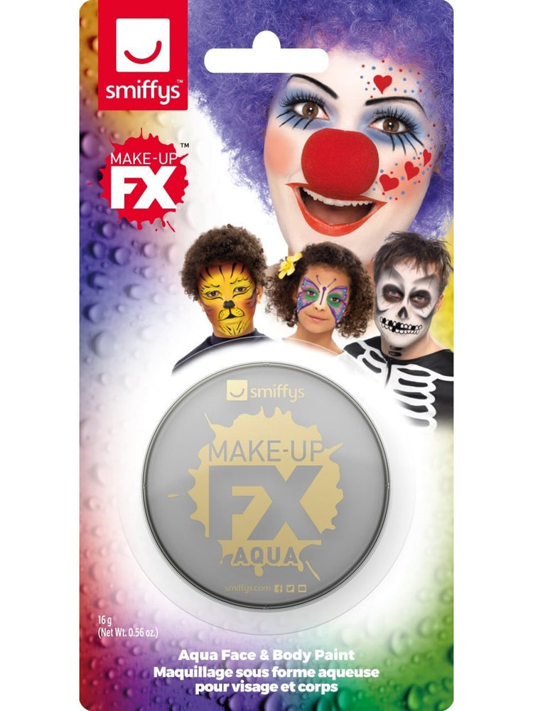 Smiffys Smiffys Make-Up FX, on Display Card, Light Grey - 47032
