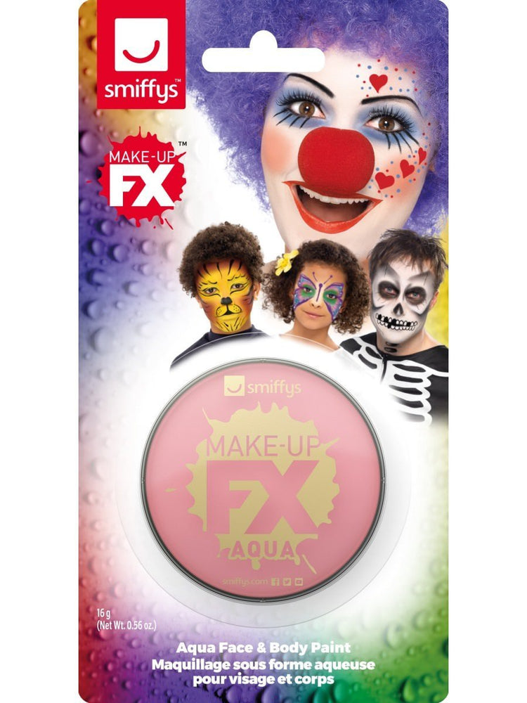 Smiffys Smiffys Make-Up FX, on Display Card, Pink - 47037