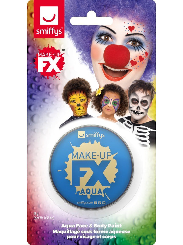 Smiffys Smiffys Make-Up FX, on Display Card, Royal Blue - 47034