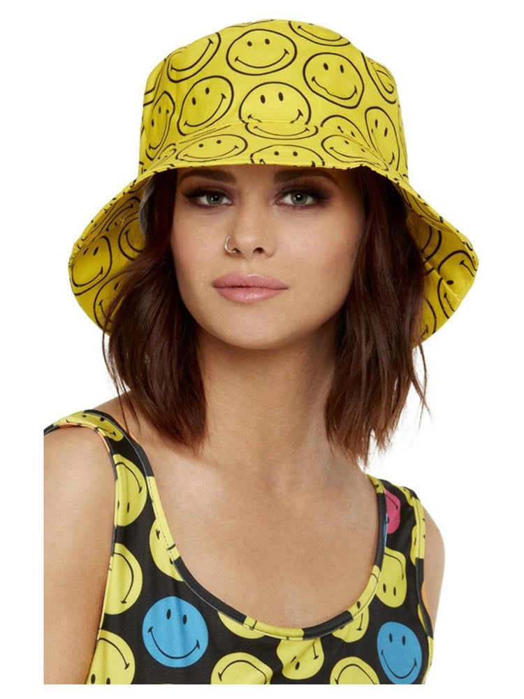 Smiffys Smiley Printed Bucket Hat - 52419