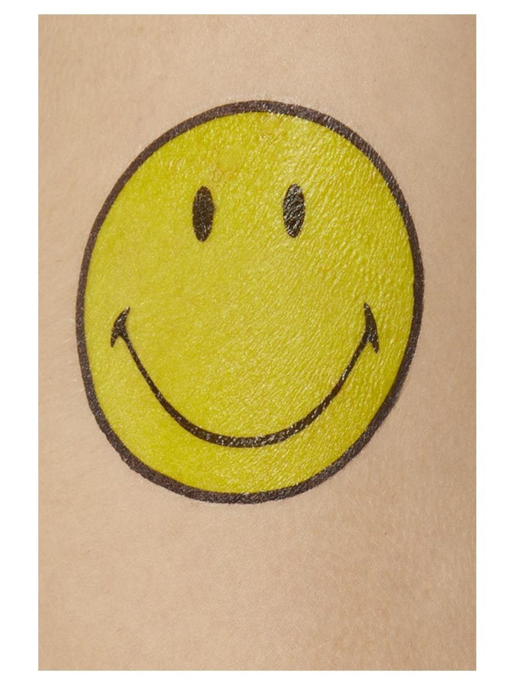 Smiffys Smiley Transfer Tattoos - 52325