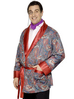 Smoking Jacket Paisley Design