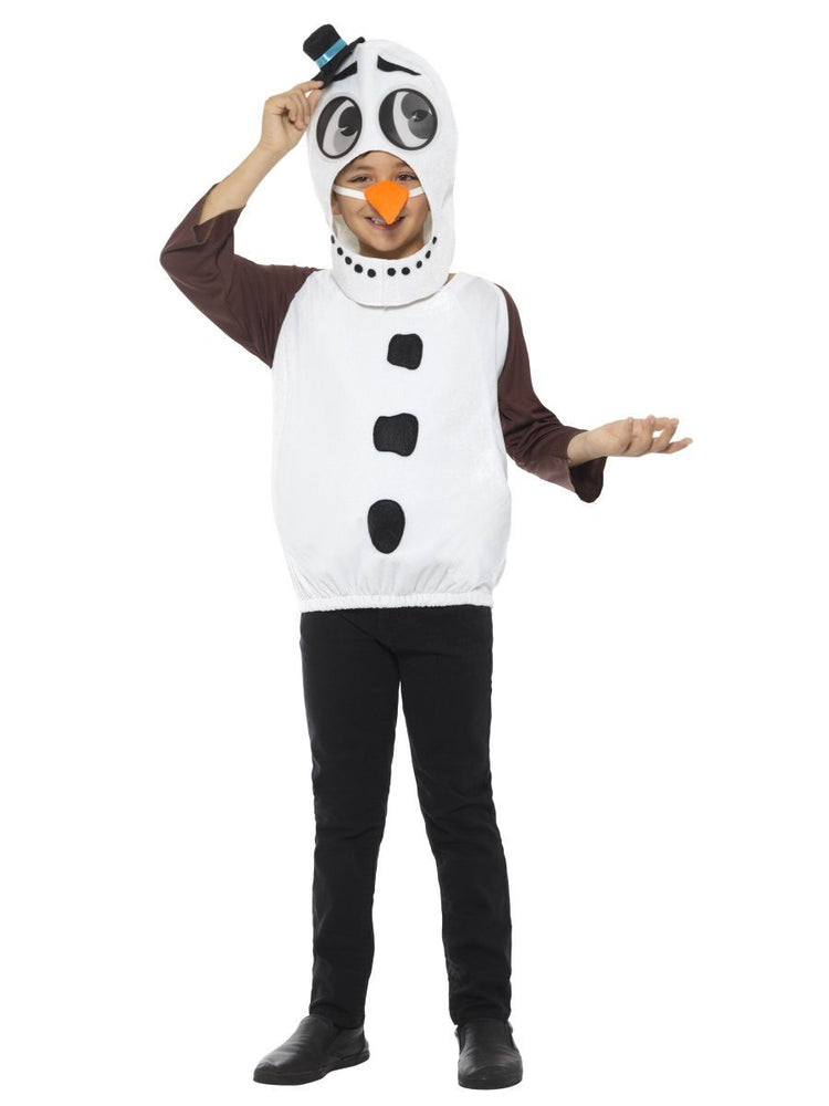 Smiffys Snowman Costume, with Tabard, Carrot Nose - 48073