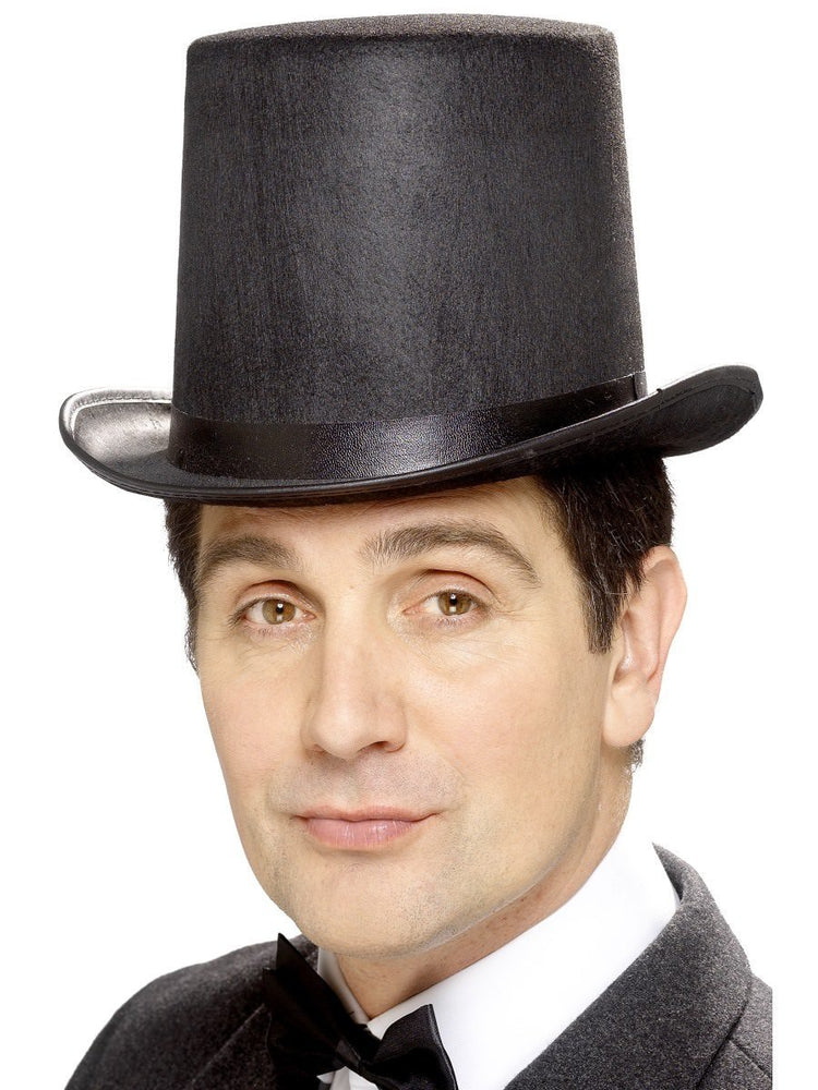 Stovepipe Felt Top Hat Black