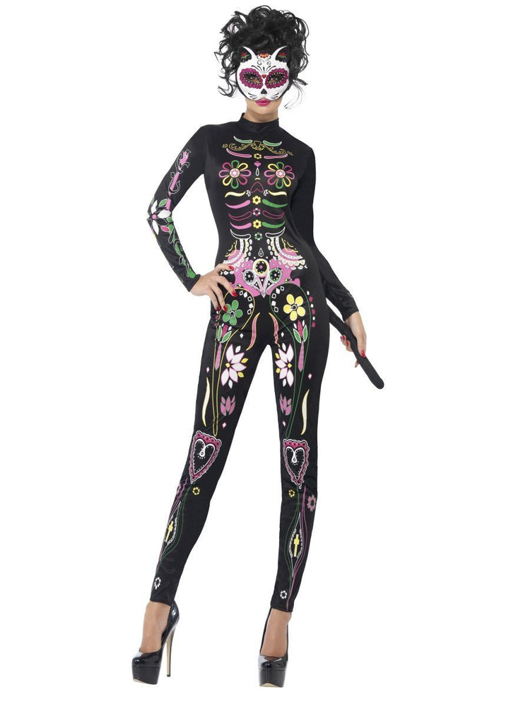 Smiffys Sugar Skull Cat Costume - 43735