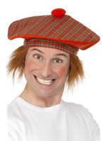 Scotish Tartan Hat w/Hair