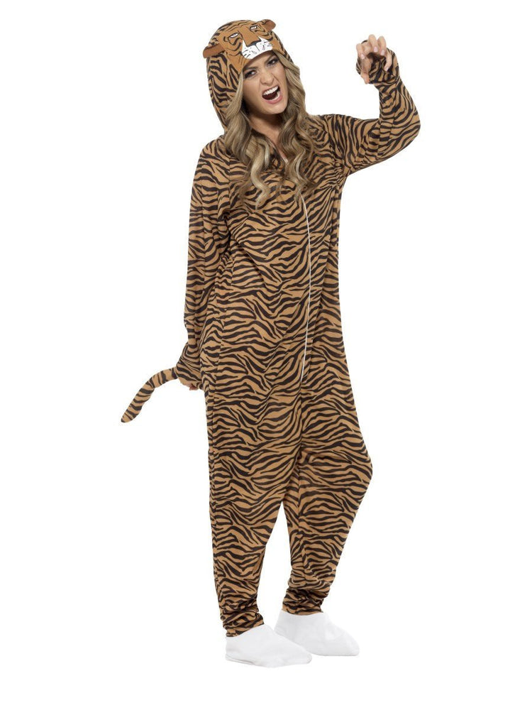 Smiffys Tiger Costume, Brown - 55002